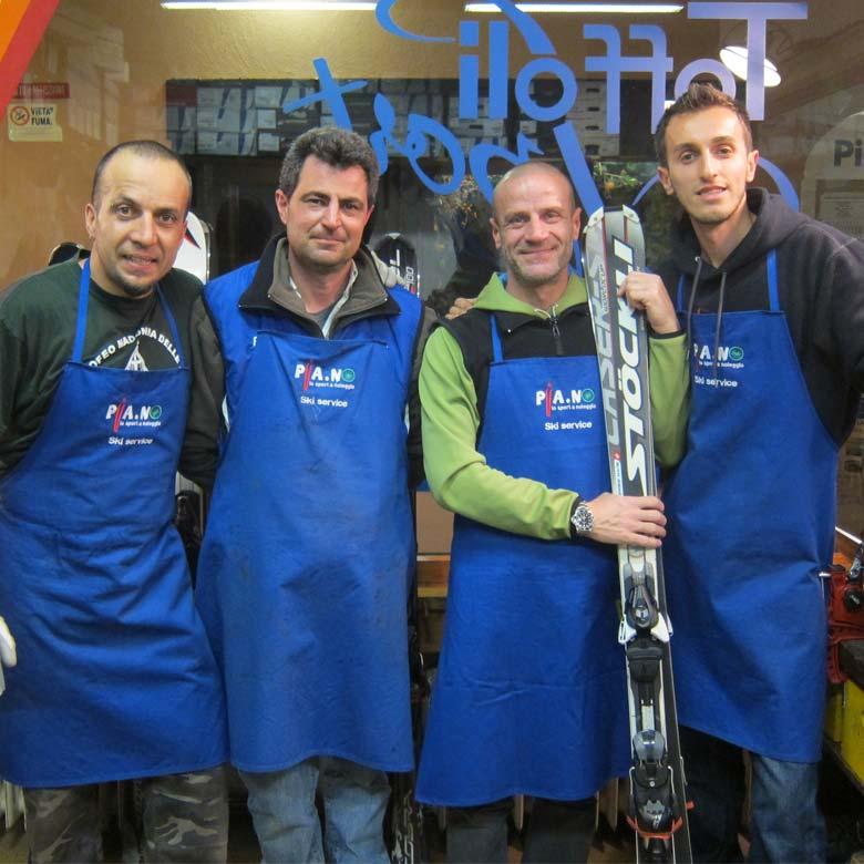 Staff di Pia.nol noleggio sci Piancavallo